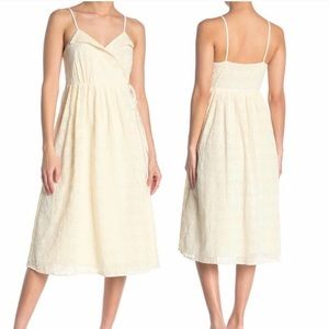 NWT Madewell embroidered pleated wrap dress